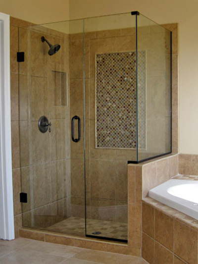 90 Degree Frameless Shower Enclosure