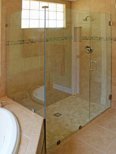 90° Frameless Shower Enclosure