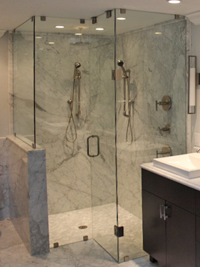 custom frameless shower enclosure