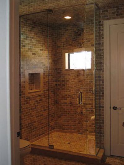 Frameless Steam Shower Door Floor To Ceiling
